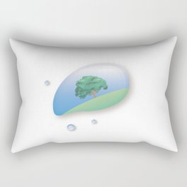 a tree reflected in a drop of water Rectangular Pillow