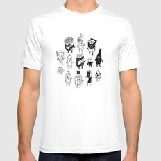 A Night Out. Mens Fitted Tee White MEDIUM