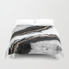 Agate Glitter Glam #2 #gem #decor #art #society6 Duvet Cover