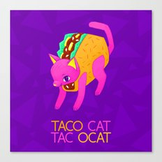 Taco Cat Palindrome Canvas Print