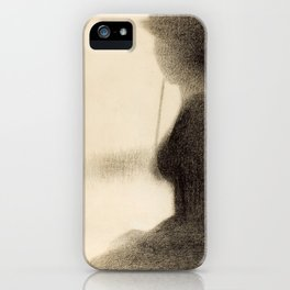 Seated Woman with a Parasol iPhone Case