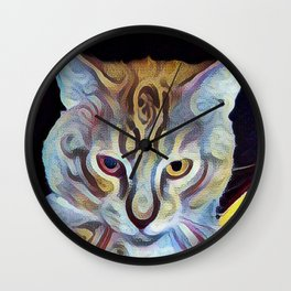 The Dude Cat Wall Clock