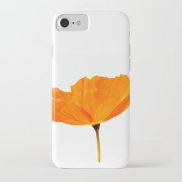 One And Only - Orange Poppy White Background #decor #society6#buyart iPhone Case