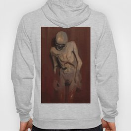 Emerging skeleton from death to life illustration Hoody
