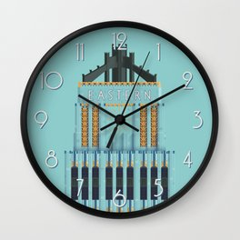 Eastern Columbia Building Los Angeles Art Deco Wall Clock