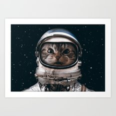 Space catet Art Print