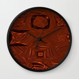 Abstract Art- Brown Art- Sacred Geometry Art- Mom From the Lotus Wall Clock