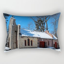 Portiuncula Chapel in Winter II Rectangular Pillow