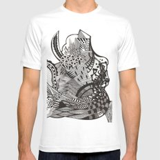 abstract vol 1 White Mens Fitted Tee MEDIUM