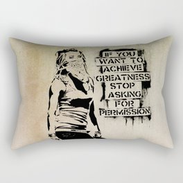 Banksy, Greatness Rectangular Pillow