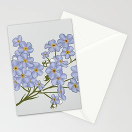 Little Blue Flowers Illustration / Forget Me Nots Stationery Cards