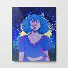 I'm blue. Metal Print
