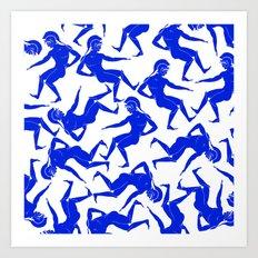 HOPLITES in Blue Art Print