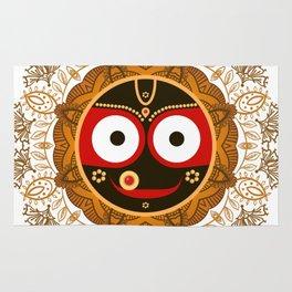 Jagannath. Indian God of the Universe. Lord Jagannatha. Rug