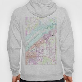 Vintage Map of Fort Myers Florida (1958) Hoody
