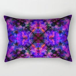 Dark blue kaleidoscope pattern Rectangular Pillow