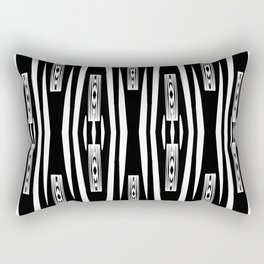 Black and White Fence Panels Rectangular Pillow