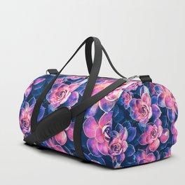 Colorful Succulent Plants Duffle Bag