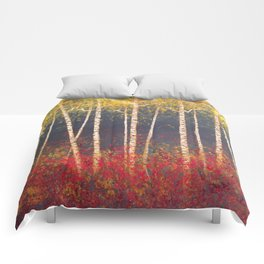 Birch Trees in the Fall Comforters