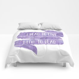 I Read To Live, I Live To Read - Purple Comforters