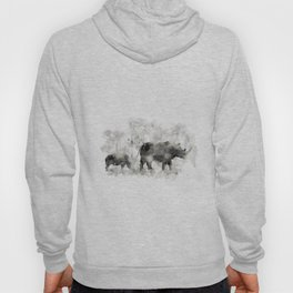 Rhino and Calf Hoody