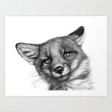 Fox Cub G139 Art Print