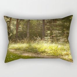 Forest Path Sunny Day #decor #society6 Rectangular Pillow
