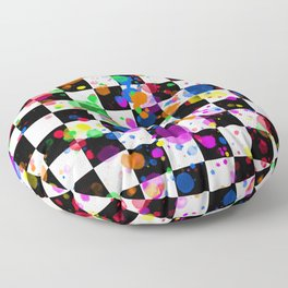 Color Where You Want! - PRIDE & CHECKS Floor Pillow
