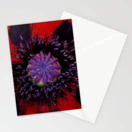 Poppy Heart 3 Stationery Cards