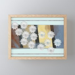 Floral card Framed Mini Art Print