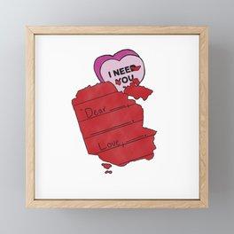Forgotten Love Letters Framed Mini Art Print
