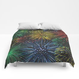 Fireworks in the Sky Comforters