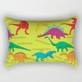 Dinosaur Print - Colors Rectangular Pillow