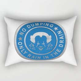 Pennywise No Dumping Only Rain in the Drain Stormwater Cap - IT (2017) Rectangular Pillow