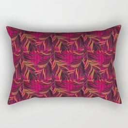 Thai Broccades feather design pattern Rectangular Pillow