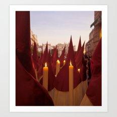 NAZARENOS HOLY WEEK SEVILLE SPAIN Art Print