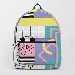 Memphis Pattern 27 - 80s - 90s Retro / 1st year anniversary design Backpack