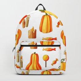 Orange Pumpkin Halloween Pattern Backpack