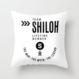 Shiloh Personalized Name Birthday Gift Throw Pillow