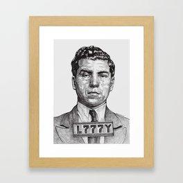 Lucky Crime Boss Framed Art Print