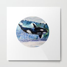 Whale of Freedom Metal Print