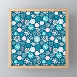 Magical snowflakes IV Framed Mini Art Print