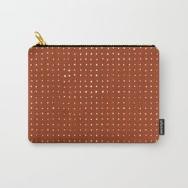 Light grey dots on rust Carry-All Pouch