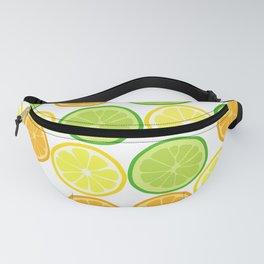 Citrus Slices on White Fanny Pack