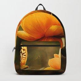Butterfly on Flower Backpack