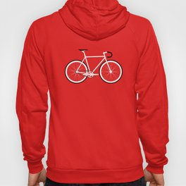Red Fixed Gear Bike Hoody