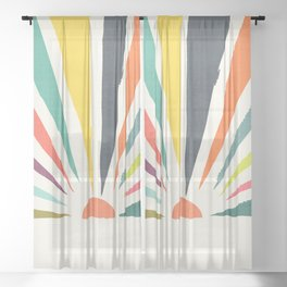 Rainbow ray Sheer Curtain