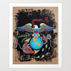 Eagle Globe & Anchor Art Print