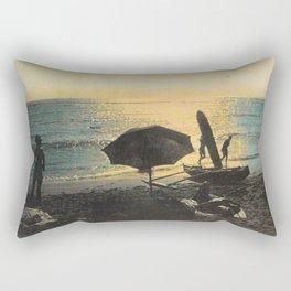 Waikiki Beach Picnic at Sunset Hawaii Rectangular Pillow
