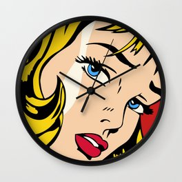 Ribbon Girl (1965) Wall Clock